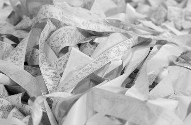 paper cash register receipts