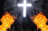 Fényképek gonosz ellen jó, ördög vs angyal