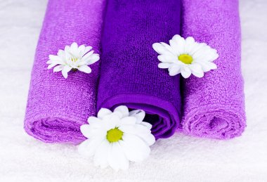 Flowers on a towel