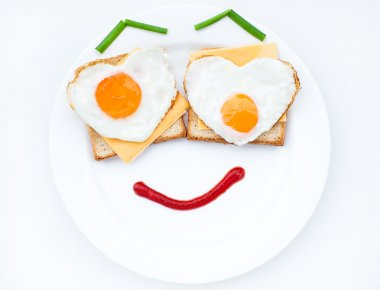 Scrambled with smile