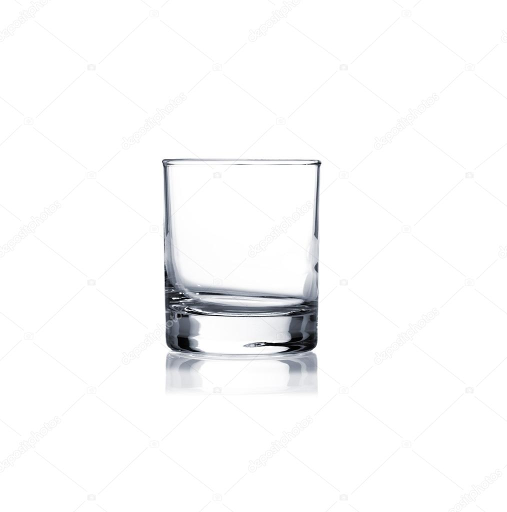 Coctail glass set. whiskey glass on white