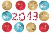 Vánoční koule kolem číslo 2013