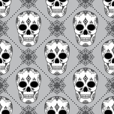 pattern with skulls