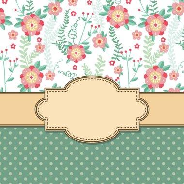 Vintage flower frame