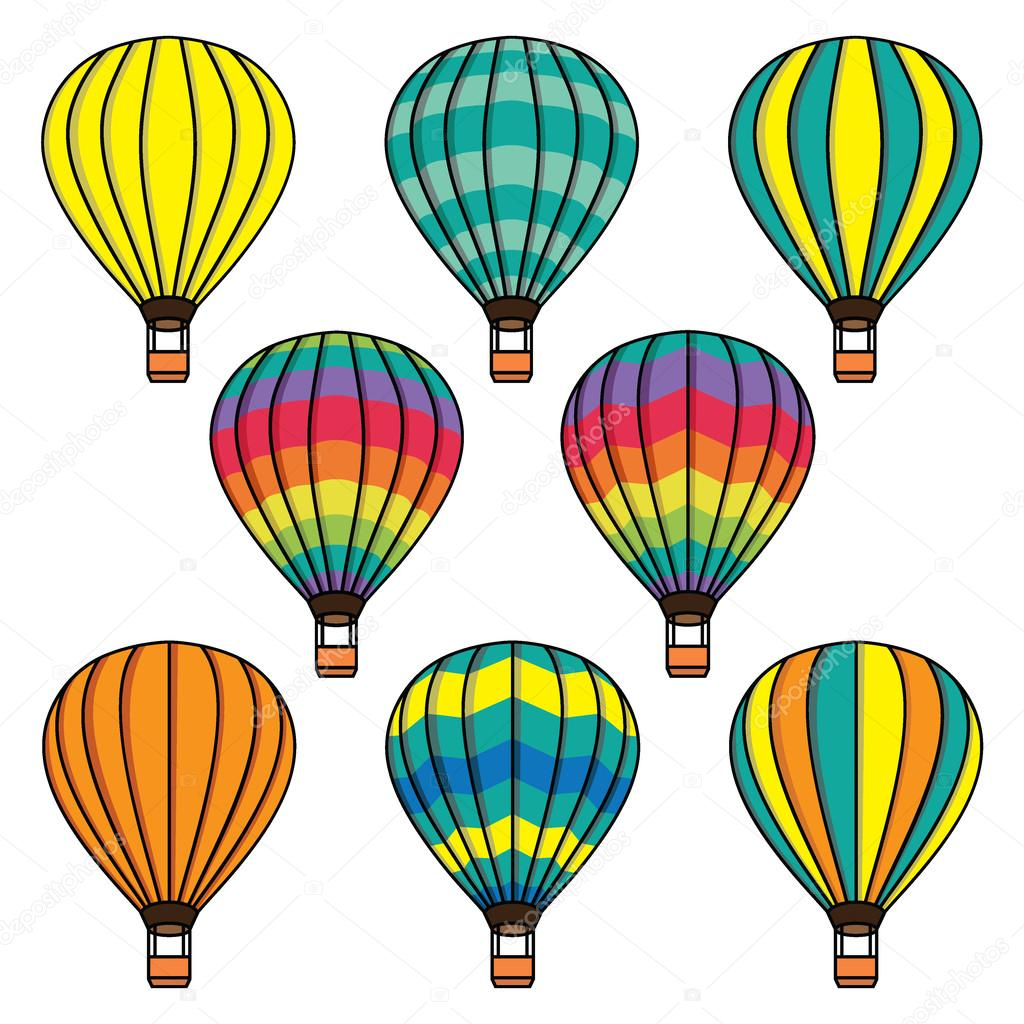 Ballons pattern background