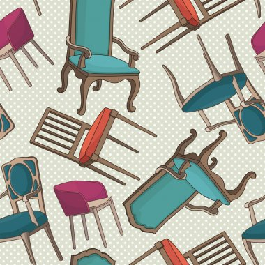 Pattern with armchairs
