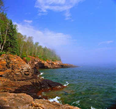 Fading Mist On Lake Superior