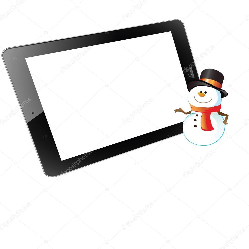tableta de marco sobre fondo blanco — Fotos de Stock © eringii #16027469