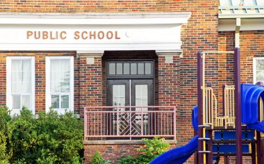 Old public school building