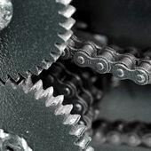 Detailní záběr řetězových kol