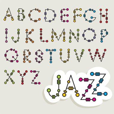 Fun latin alphabet