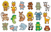 Photo Set funny cartoon animals