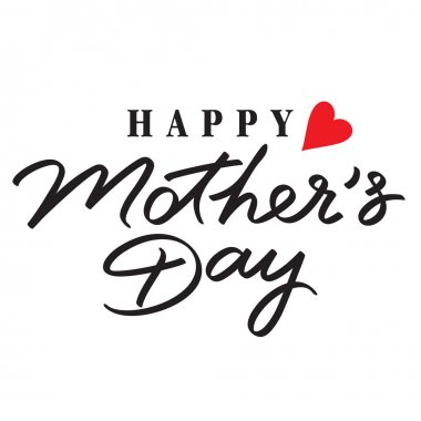 Happy mothers day hand lettering handmade calligraphy clip art vector