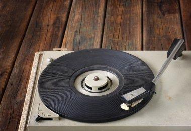 Vintage record player. vintage gramophone.