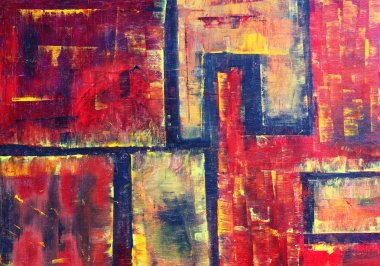 """Картина, постер, плакат, фотообои """"оригинальная абстрактная живопись, холст маслом натюрморт картина портрет зима"""", артикул 29292721"""
