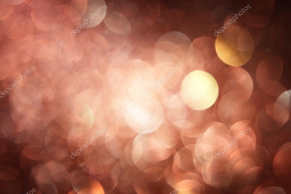 Brown background. Elegant abstract background with bokeh defocused lights