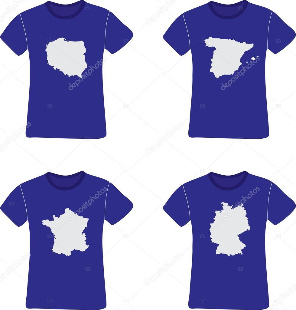 Set of (Men & Ladies) T-Shirt Mockups