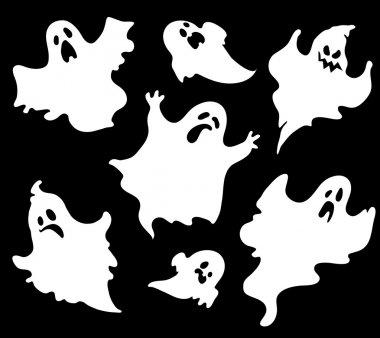 Set of halloween ghosts1