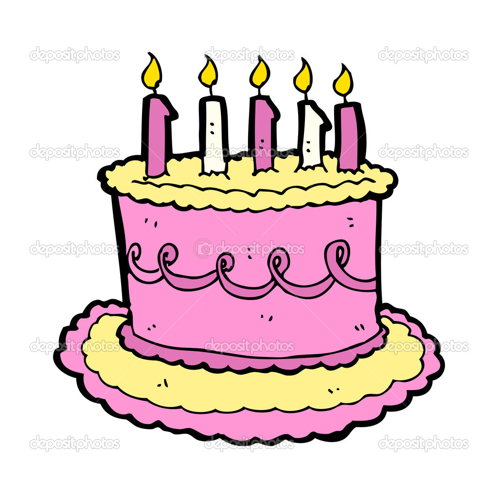 Cartoon Birthday Cake Images Download : Cartoon birthday cake   Stock Vector ? lineartestpilot ...