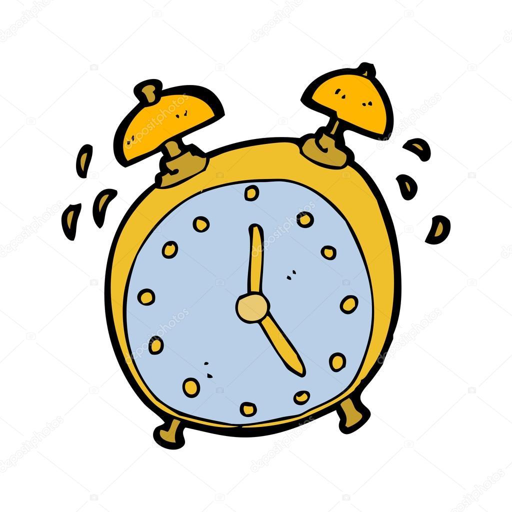 Ringing Clock Cartoon