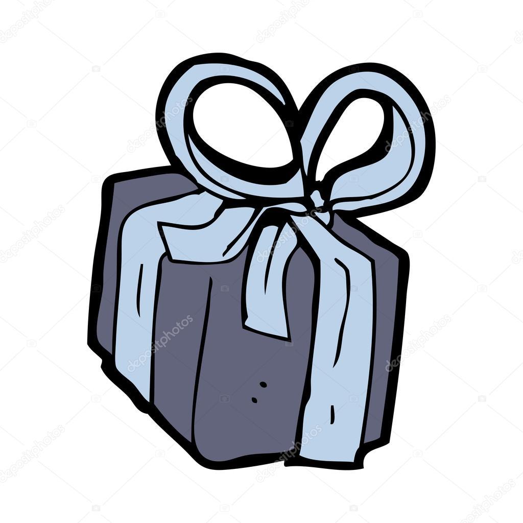 Cadeau d 39 anniversaire dessin anim image vectorielle - Dessin cadeau anniversaire ...