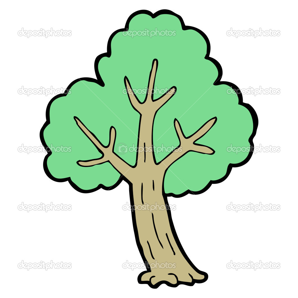árvore Desenho Animado Vetor De Stock Lineartestpilot 13569139