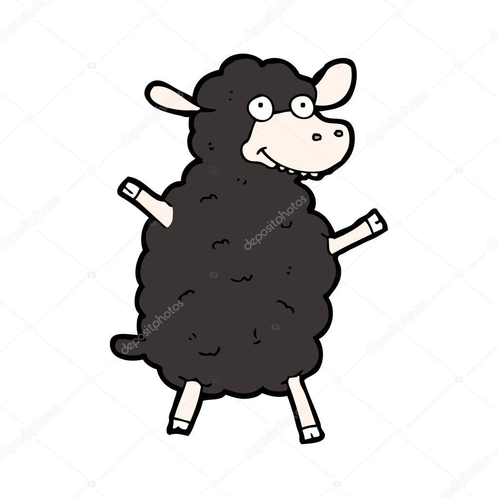 Mouton noir dessin anim image vectorielle - Mouton dessin anime ...