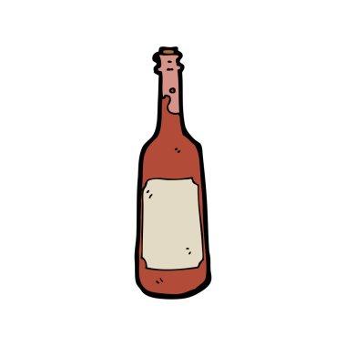 Old wine bottle cartoon