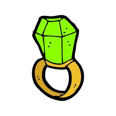 Cartoon emerald ring