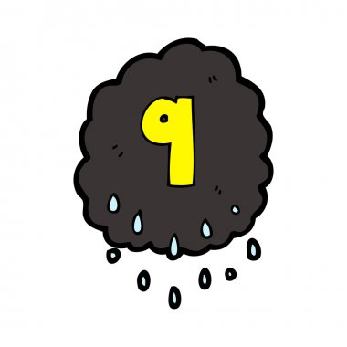 Storm cloud number nine cartoon