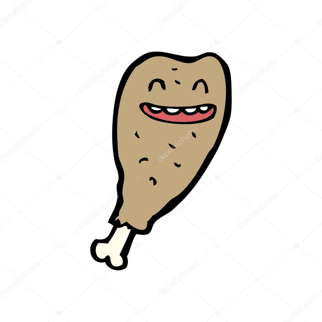 Laughing Chicken Leg Cartoon Stock Vector