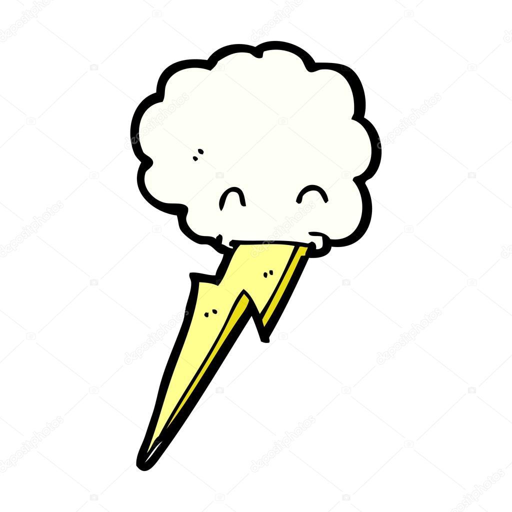 Personnage de dessin anim nuage avec clair image - Eclaire dessin ...