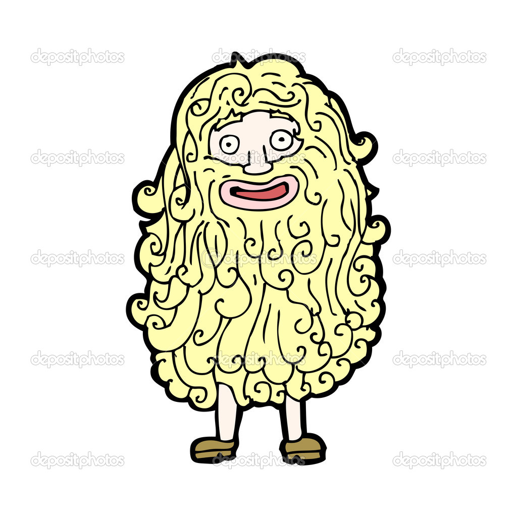 Hombre peludo de dibujos animados vector de stock - Dessin de poilu ...