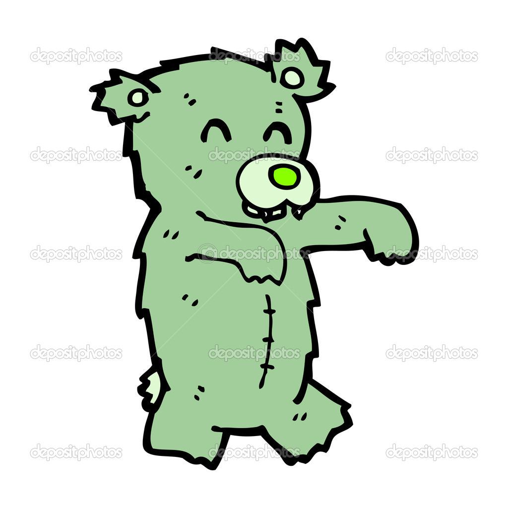 Zombie Bear Cartoon Stock Vector Lineartestpilot 13576012