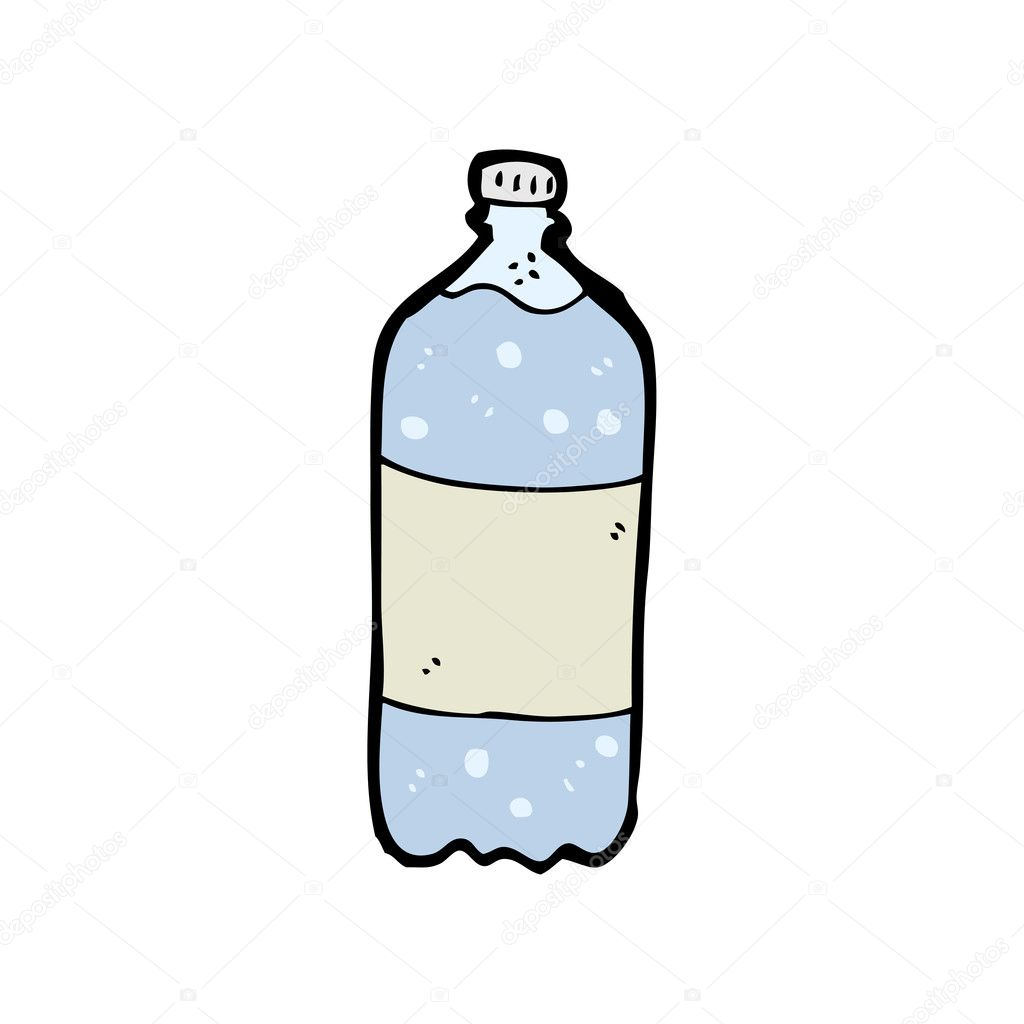 Mineral Water Bottle Cartoon Stock Vector C Lineartestpilot
