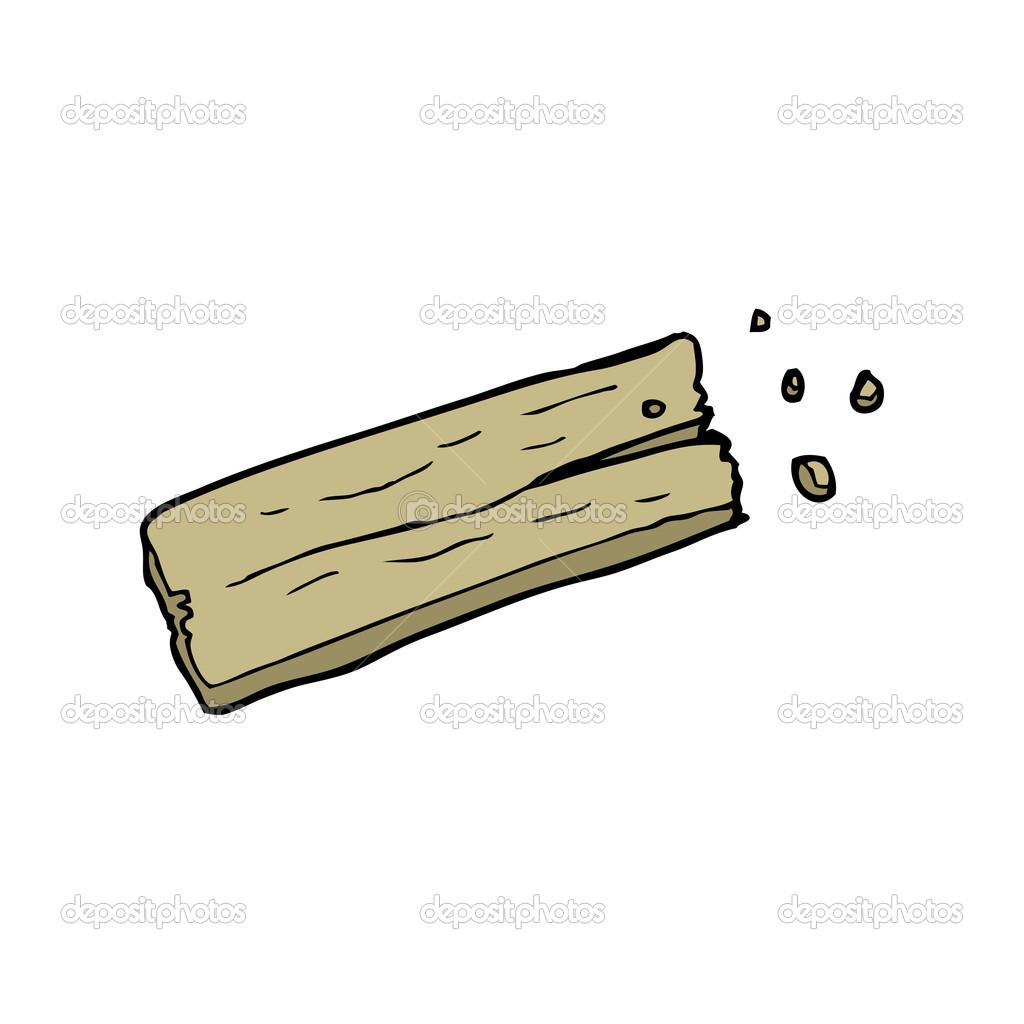 Planche de bois dessin anim image vectorielle - Planche a dessin en bois ...
