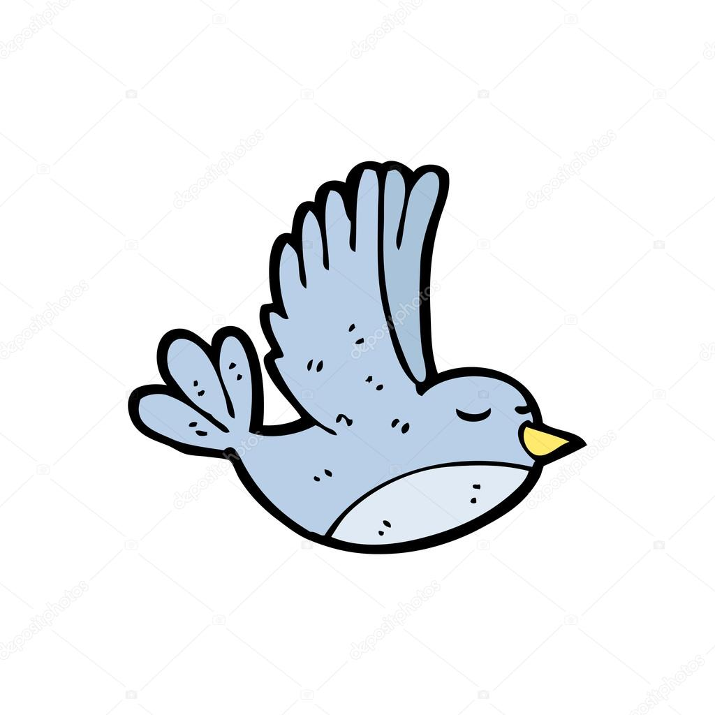 flying bird cartoon stock vector lineartestpilot 13576729 rh depositphotos com cute flying bird cartoon flying bird cartoon png