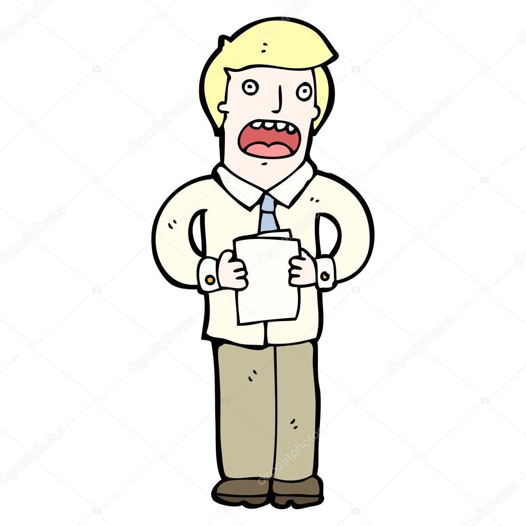 Man giving speech cartoon — Stock Vector © lineartestpilot ...