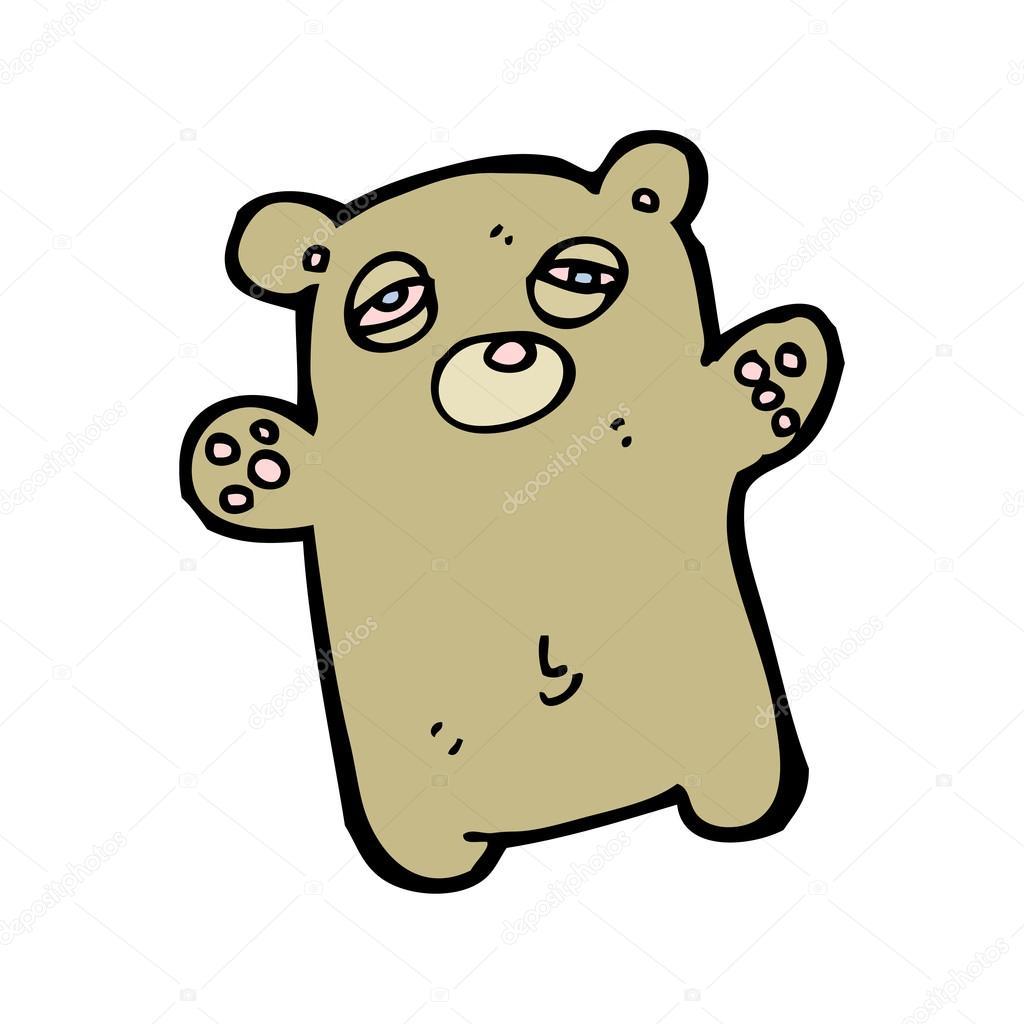 Cartone animato orsetto stanco u2014 vettoriali stock © lineartestpilot