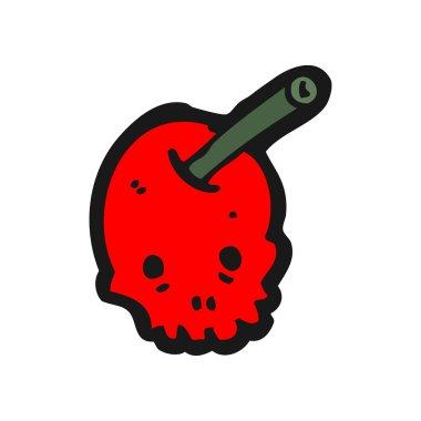 Skull red cherry cartoon