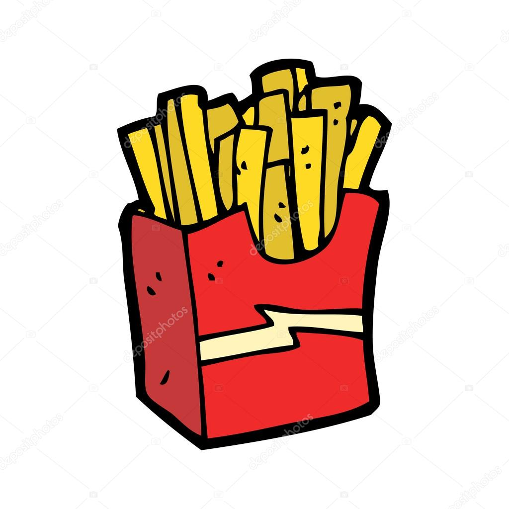 Pommes frites-cartoon — Stockvektor #16287767