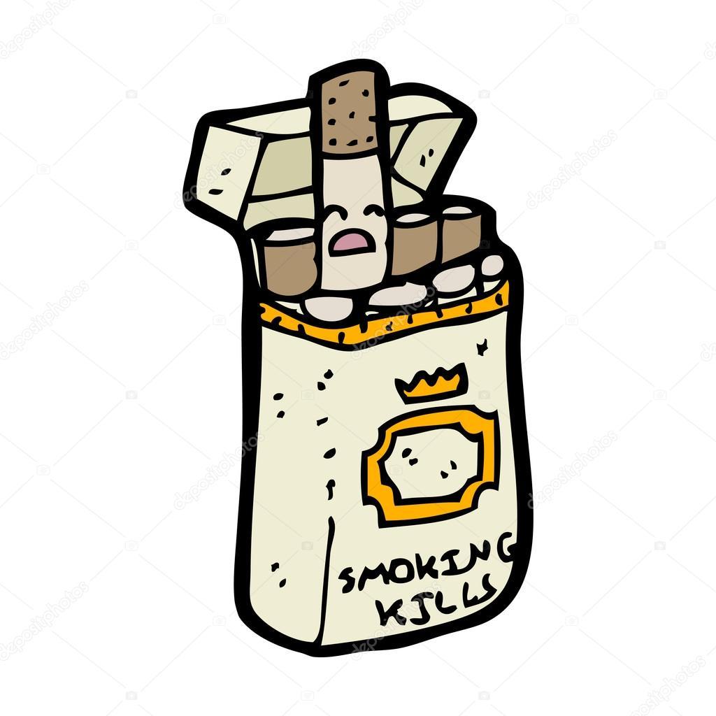 Dessin Paquet De Cigarette paquet de cigarettes de dessin animé — image vectorielle