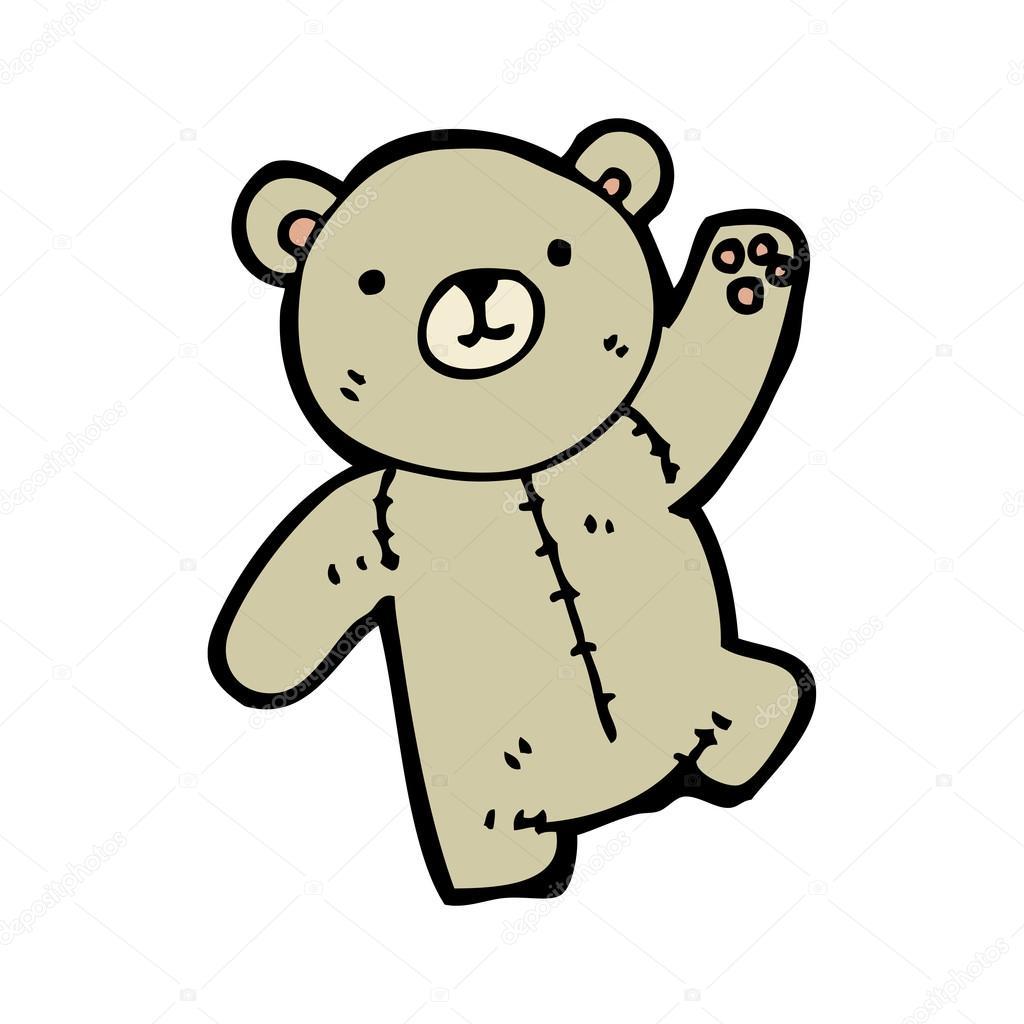 Plysovy Medved Mava Kresleny Stock Vektor C Lineartestpilot 16294801