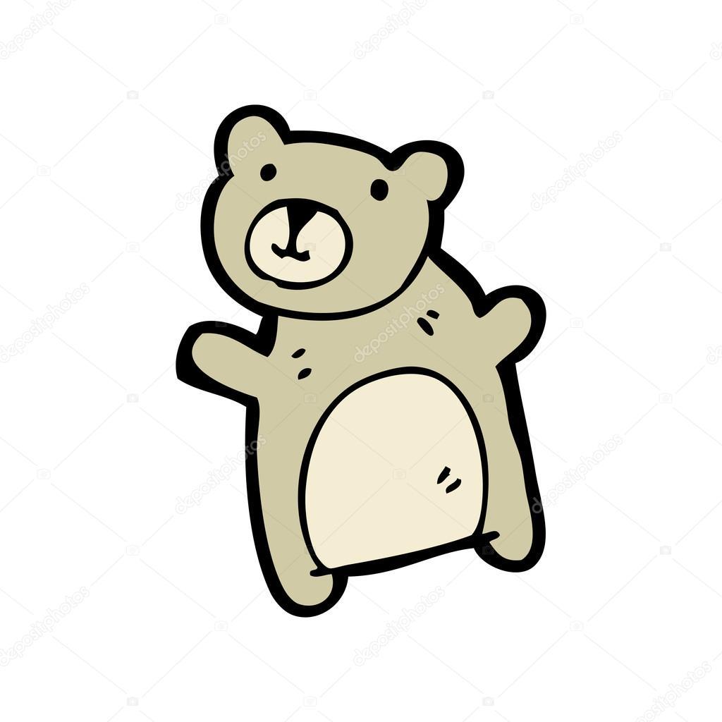 Plysovy Medved Mava Kresleny Stock Vektor C Lineartestpilot 16294803