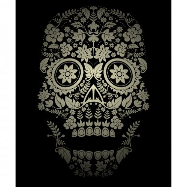 Day of the dead skull spooky background