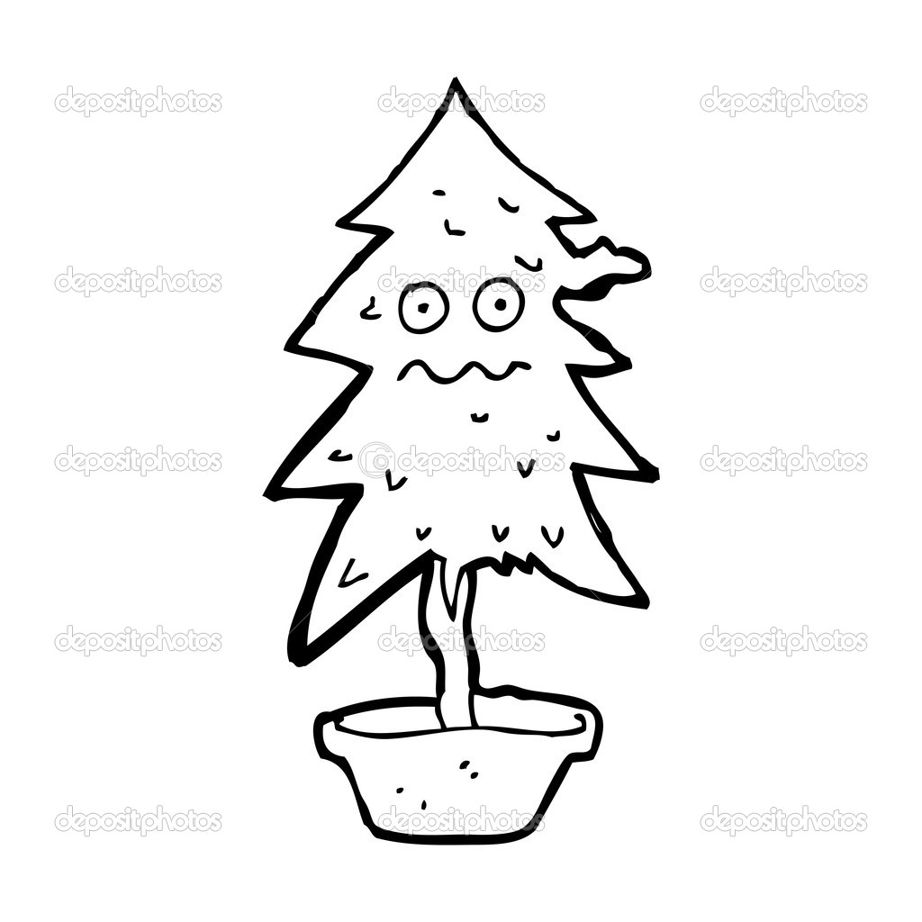 Sapin De Noël Dessin Animé Image Vectorielle