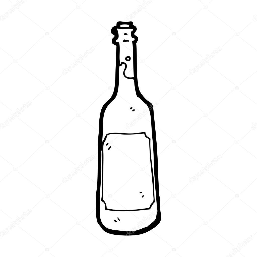 cartoon wine bottle stock vector lineartestpilot 18111725