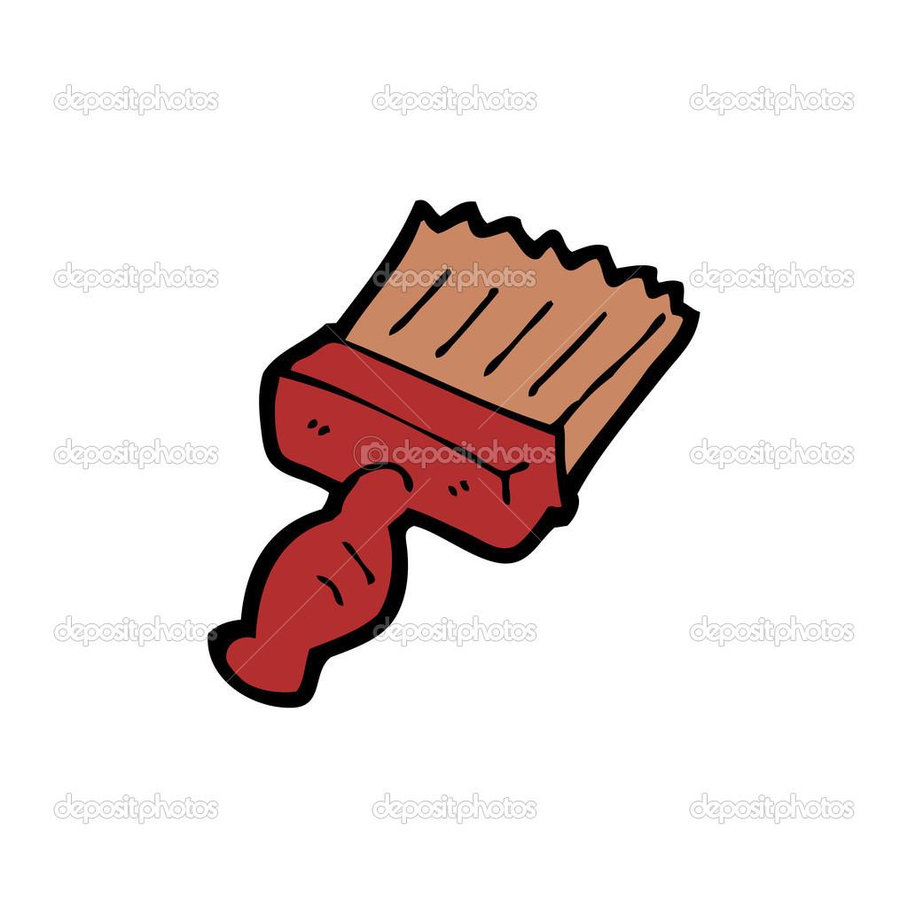 Dessin d 39 un pinceau rouge image vectorielle for Manche d un pinceau