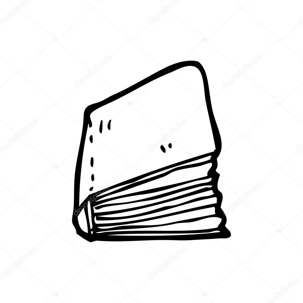 Libro Viejo Dibujo Dibujos Animados De Libro Viejo Vector De