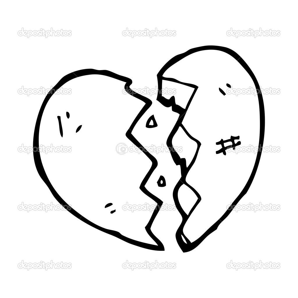 Zlomene Srdce Kresleny Stock Vektor C Lineartestpilot 19582877
